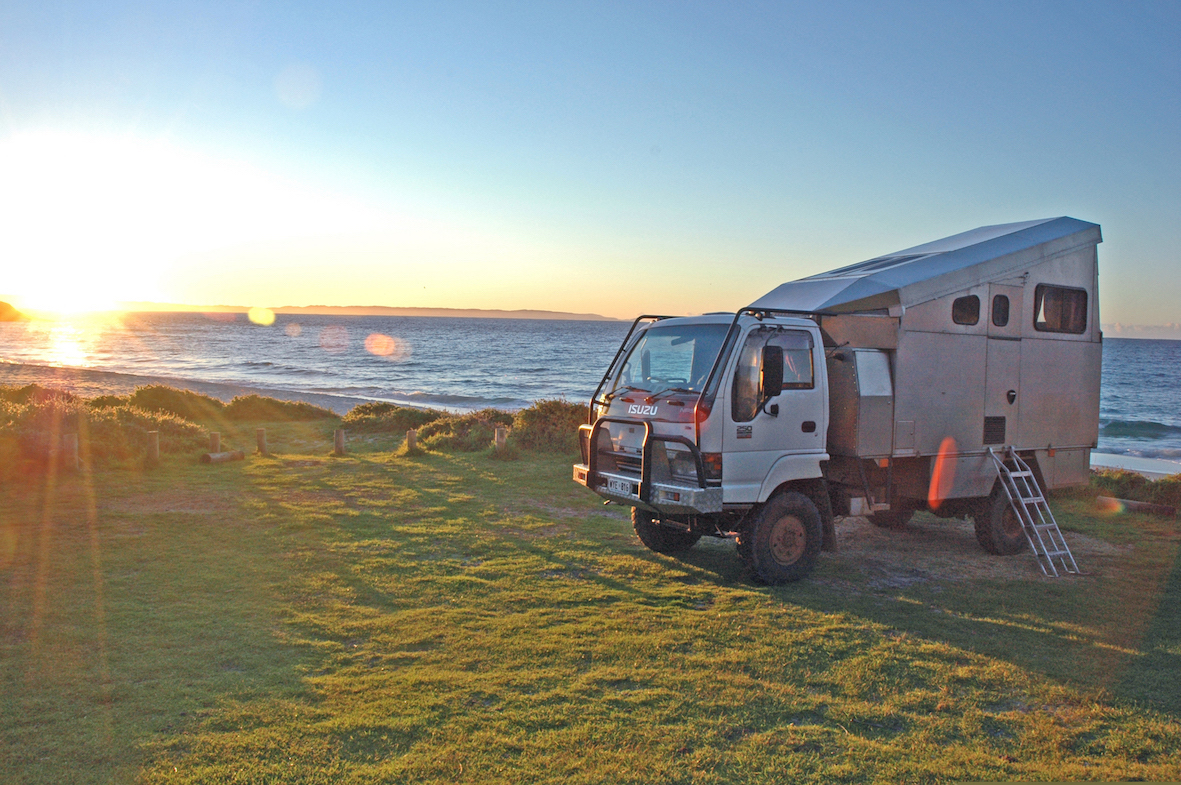 Camper at Shelly Beach